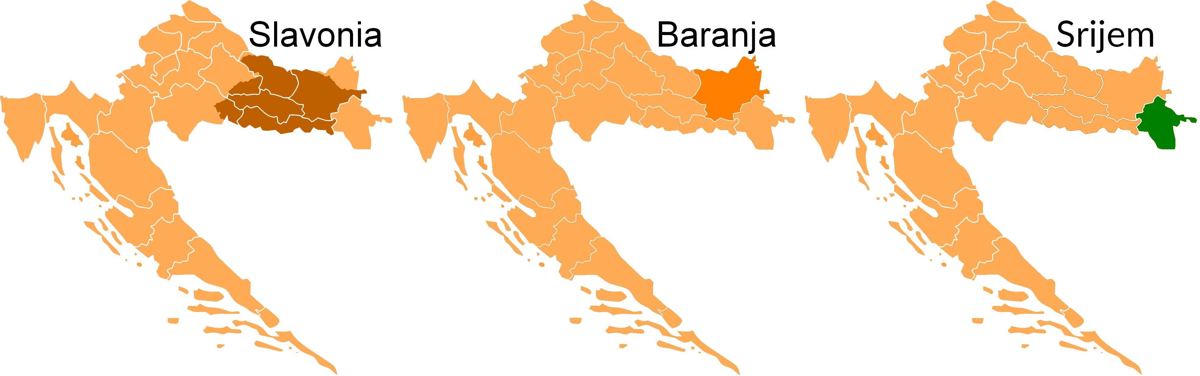 Regiony Slavonii, Baranji i Srijemu