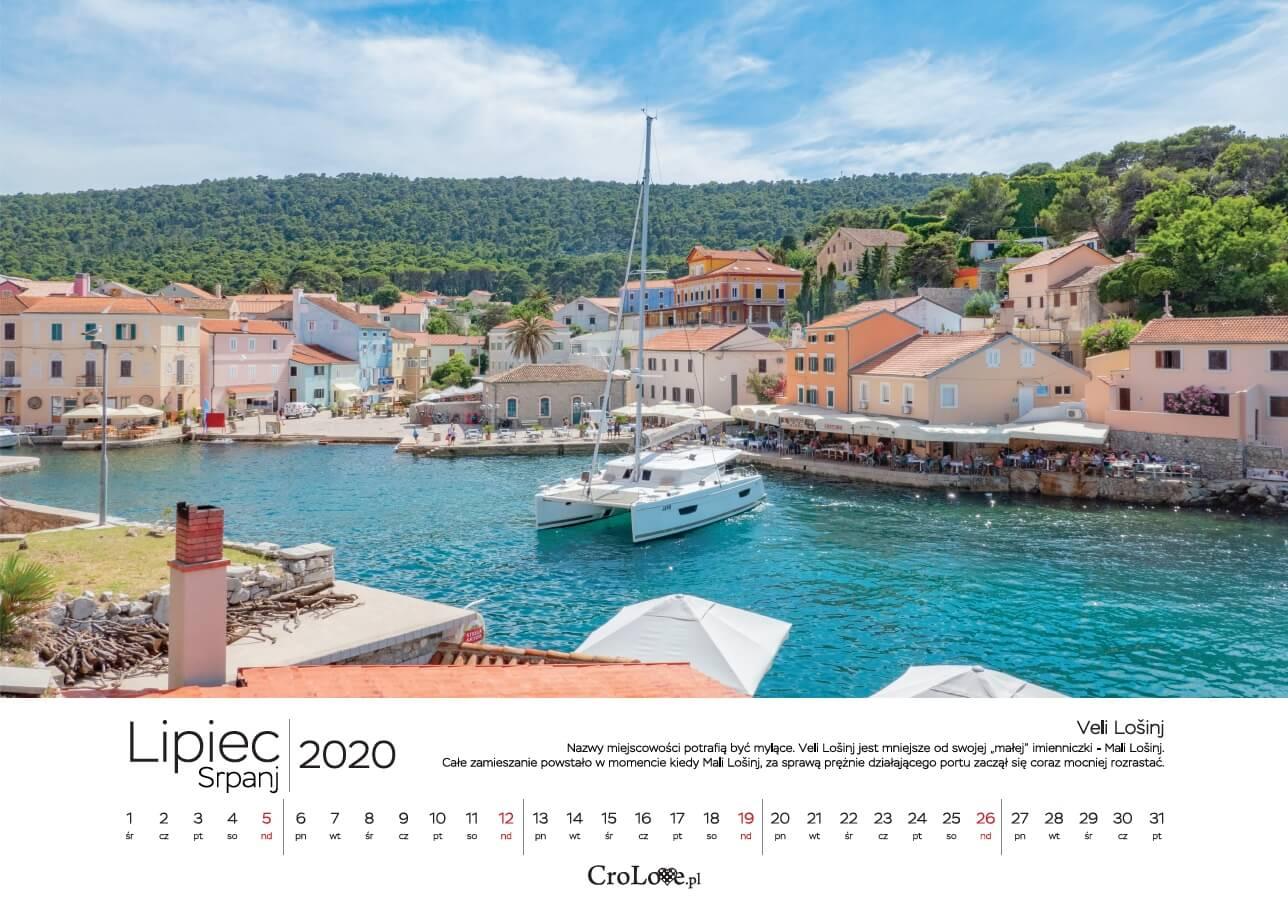 Kalendarz CHORWACJA 2020 CroLove - lipiec