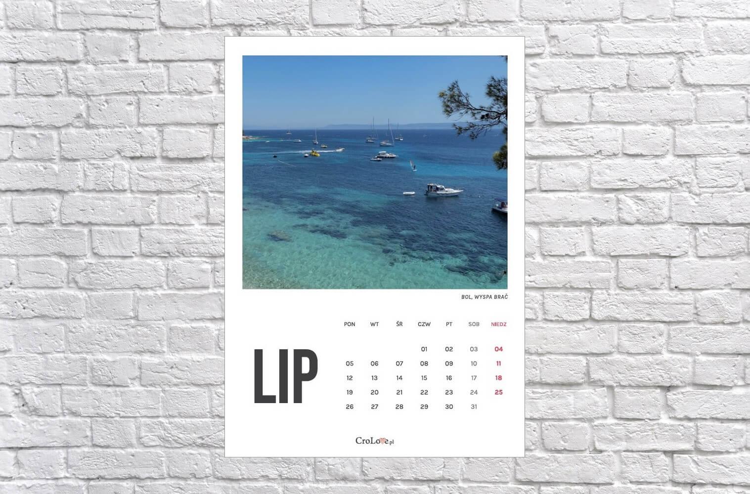 Kalendarz Chorwacja 2021