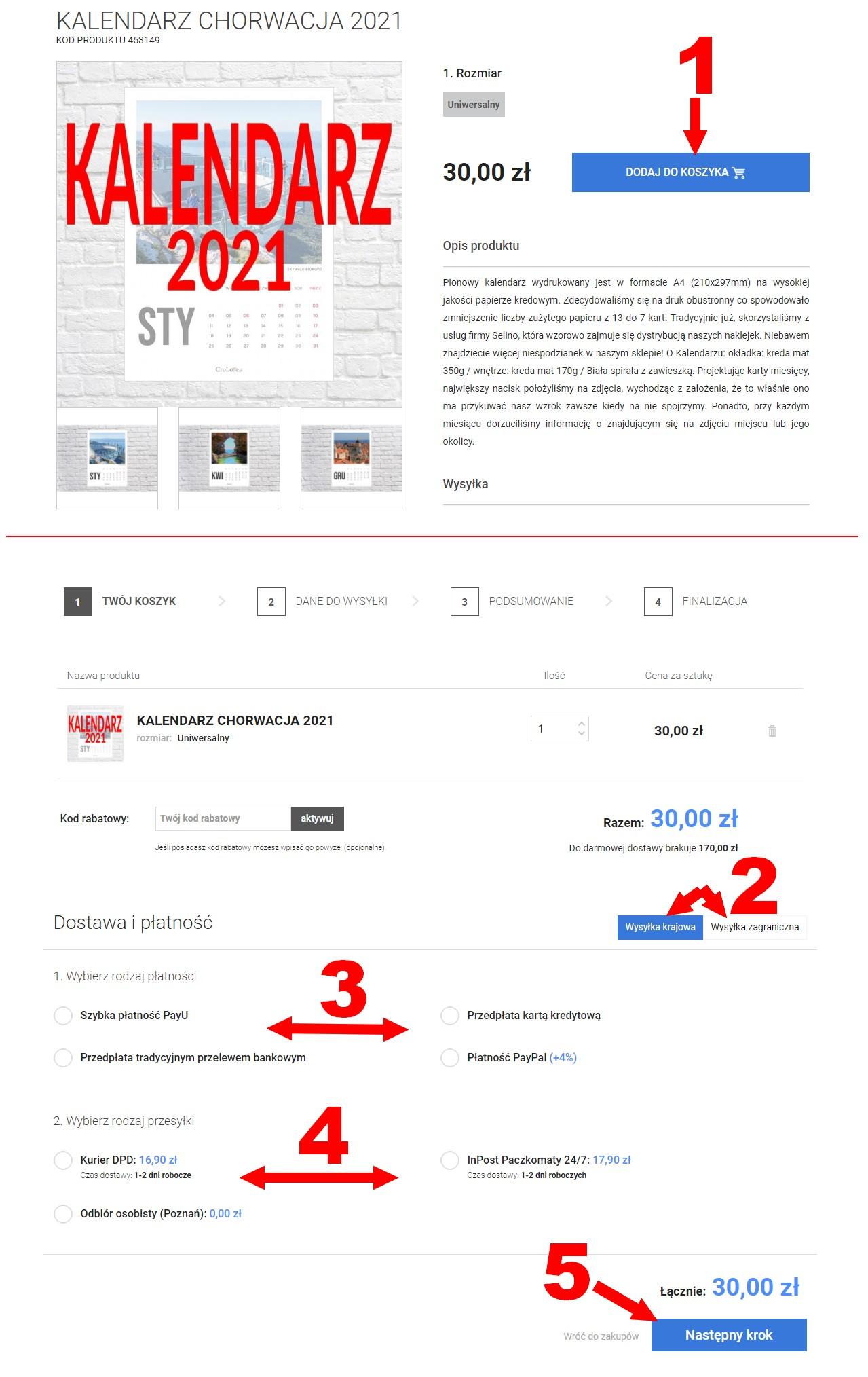 Jak zamówić kalendarz Chorwacja 2012