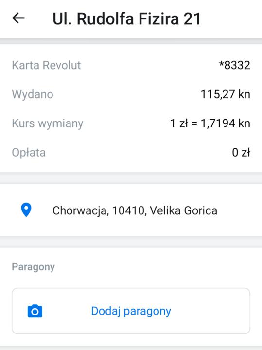 Revolut w Chorwacji