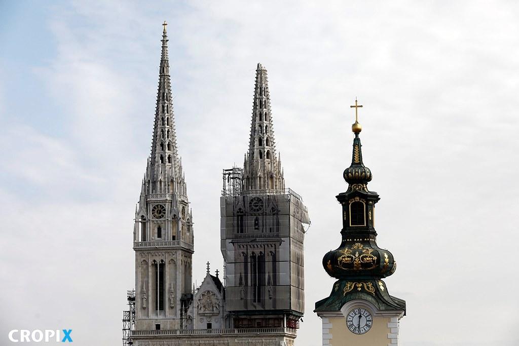 Katedra Wniebowzięcia Najświętszej Maryi Panny. Trzęsienie ziemi w Zagrzebiu