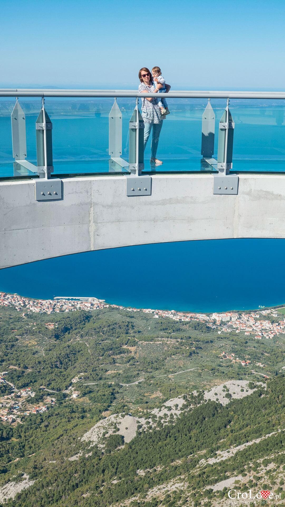 Skywalk Biokovo - szklany taras widokowy, Riwiera Makarska w Chorwacji