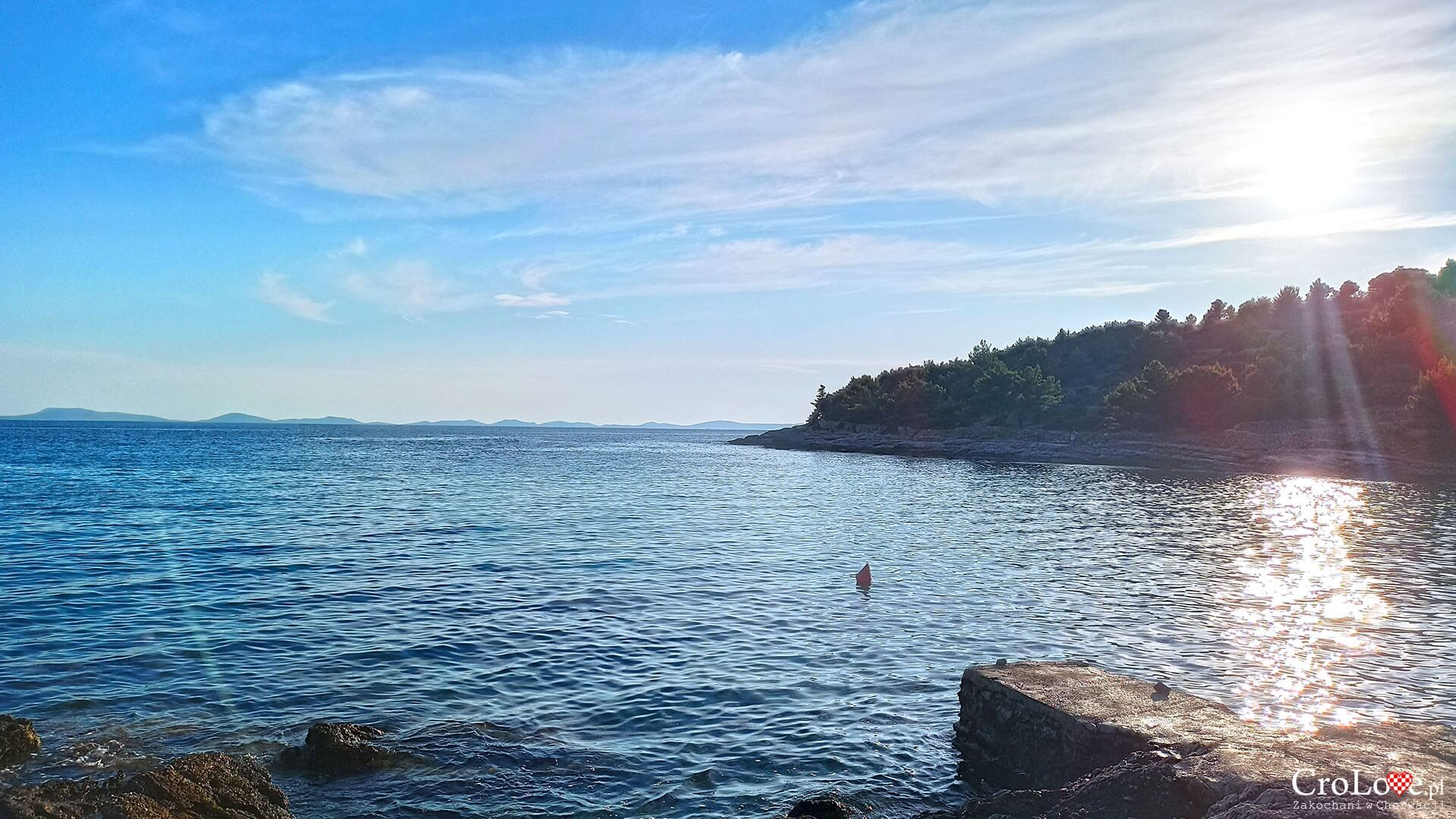 Plaża Čigrađa na wyspie Murter