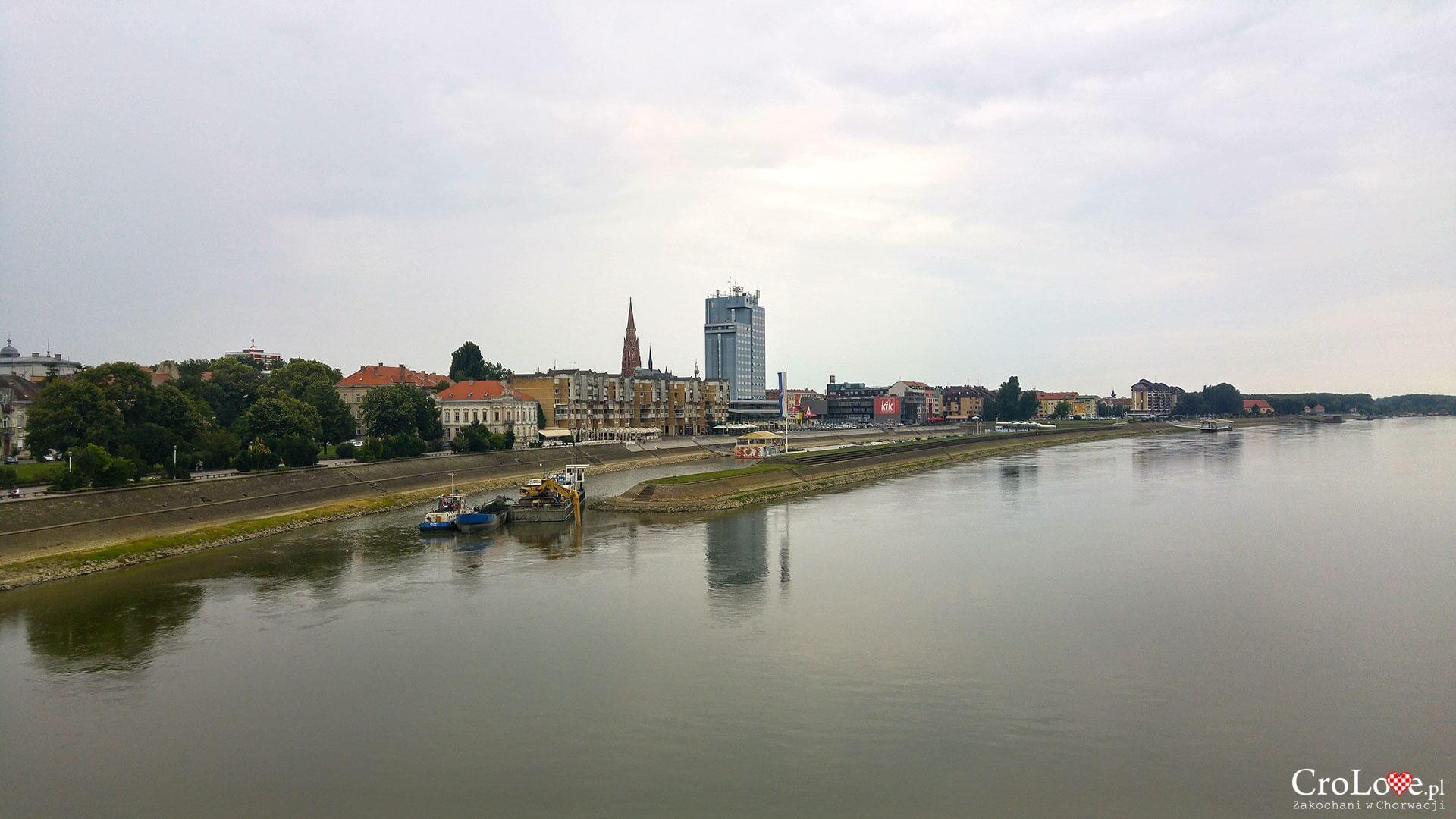 Panorama Osijeku z kładki młodości