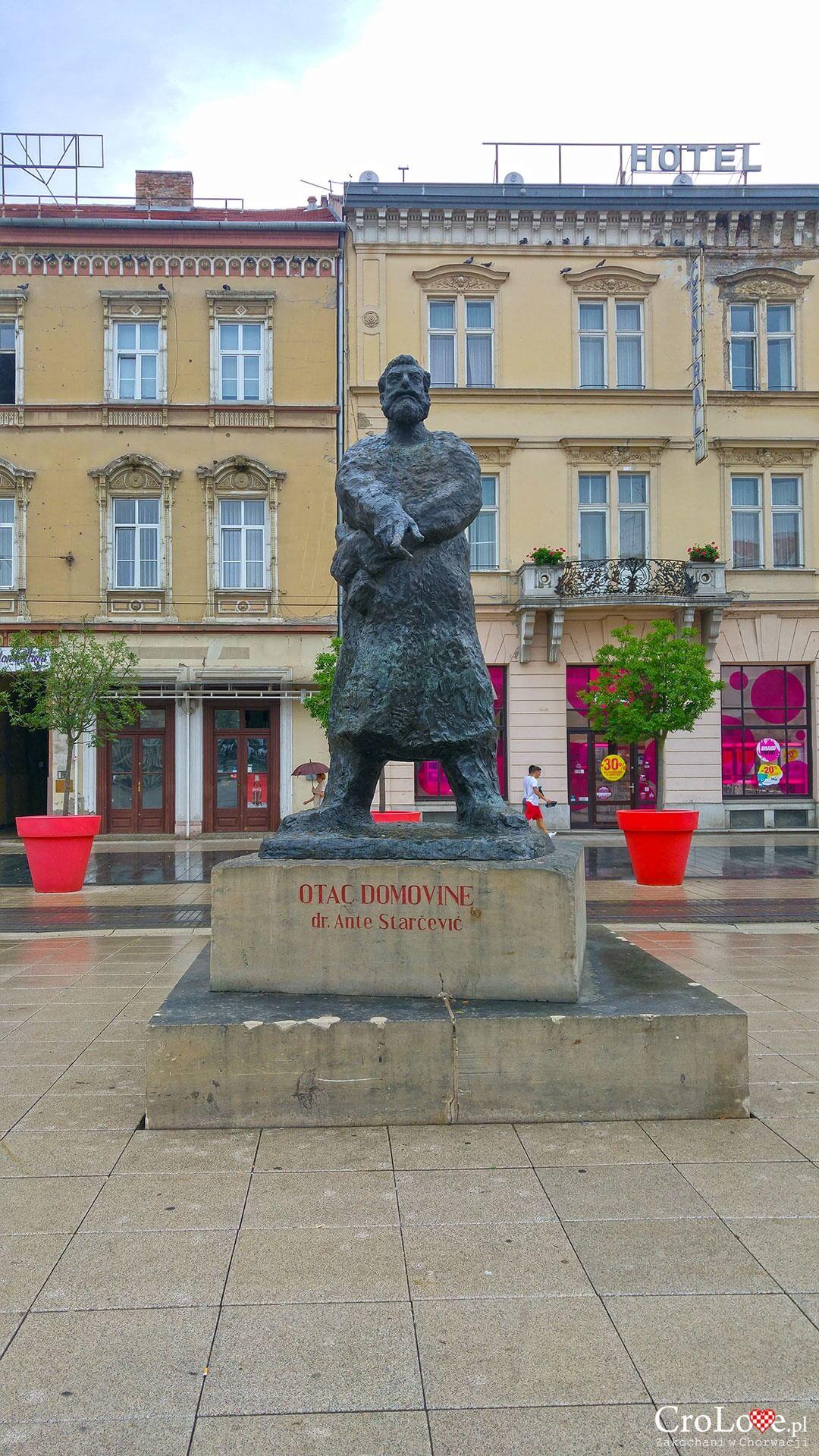 Posąg Ante Starčevića w Osijeku