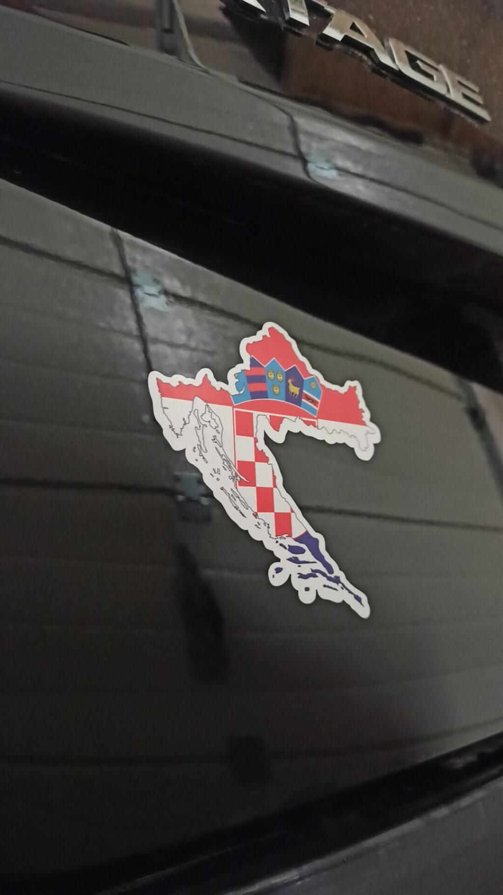 Kolorowa naklejka Chorwacja